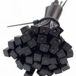 intervisio Lot de 600 Serre-Câbles Plastique, de 80 mm à 300 mm, Noir, Attache Cable Noir Lien Nylon Collier Rilsan + 50 Supports Auto-adhésif pour Colliers de Serrage Plastique de la marque intervisio image 2 produit