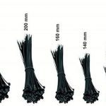 intervisio Lot de 600 Serre-Câbles Plastique, de 80 mm à 300 mm, Noir, Attache Cable Noir Lien Nylon Collier Rilsan + 50 Supports Auto-adhésif pour Colliers de Serrage Plastique de la marque intervisio image 1 produit