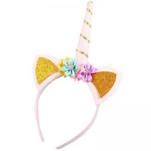 iShine Licorne Bandeau Elastique Headband Corne Brillant Fait à la Main pour Déguisement Adulte Enfant Costume Cosplay de la marque iShine image 0 produit
