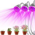 JOYOOO 3-Tête Lampe de Croissance Plante, Lampe de Croissance 15W 360 Degrés Flexible,trois commutateurs de commande séparée,pour la floriculture, le jardinage, semis de graines de la marque JOYOOO image 2 produit