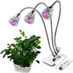 JOYOOO 3-Tête Lampe de Croissance Plante, Lampe de Croissance 15W 360 Degrés Flexible,trois commutateurs de commande séparée,pour la floriculture, le jardinage, semis de graines de la marque JOYOOO image 3 produit