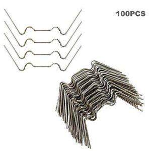 KEAYOO Lot de 100 Pinces de Serre Extra épais en Acier Inoxydable 1,6 mm pour Serre de la marque KEAYOO image 0 produit