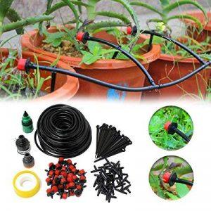 KING DO WAY Kit De 25m Réglable Irrigation Goutte À Goutte Arrosage Micro Arroseur Avec 30 Pcs Goutteurs DIY Pour Jardin Serre de la marque KING DO WAY image 0 produit