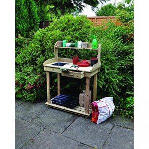 Kingfisher Table de jardinage PTABLE en bois naturel de la marque Kingfisher image 0 produit