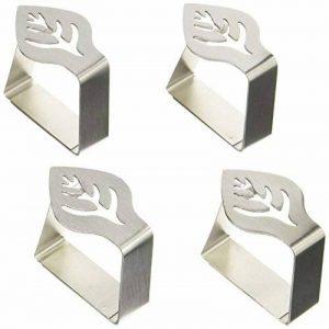 Kitchen Craft Lot de 4 pinces à nappe lestées en inox Motif feuille de la marque Kitchen Craft image 0 produit