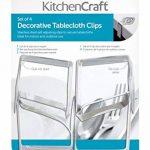 Kitchen Craft Lot de 4 pinces à nappe lestées en inox Motif feuille de la marque Kitchen Craft image 3 produit