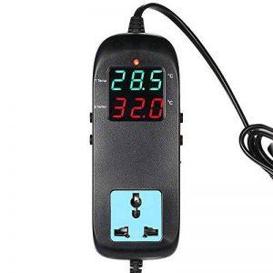 KKmoon Thermostat de Thermocouple de contrôleur de température Affichage à LED avec prise AC 90V ~ 250V pour reproduction de la marque KKmoon image 0 produit
