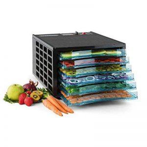 Klarstein Fruit Jerky 6 déshydrateur robot déshydrateur déshydrateur à viande et fruits 6 niveaux 630 Watts recyclage d'air température réglable minuterie séchage 0,58 m² noir de la marque Klarstein image 0 produit