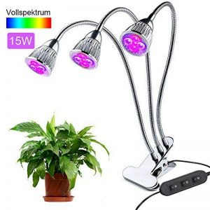 Lampe de Croissance,15W Lampe de Plante avec Cou de Cygne Flexible 360 ° pour des Plantes ,des Fleurs et des Légumes Intérieur/de Serre (Lampe -15W) de la marque yagood image 0 produit