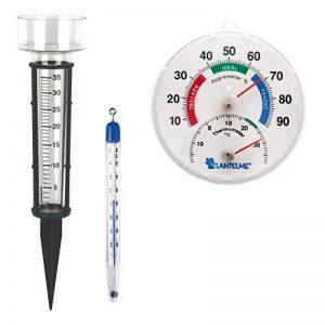 Lantelme 3286 3 pièces Jardin/serre/hygromètre pluie/Thermomètre de sol avec Combi Thermomètre/hygromètre. Pluviomètre et thermomètre analogique Plastique sol/compost de la marque Lantelme image 0 produit