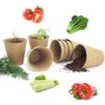 LFS Biodégradable sans Tourbe Fibre Pots pour Jeunes Plants 6cm Ronde 100Pcs Gratuit avec étiquettes de la marque LFS image 3 produit