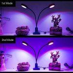 LONGKO 32LED 16W Lampe de Croissance/Lampe Horticole à Double Tête avec Cou de Cygne Flexible 360 °- 2 Niveaux Dimmable Cou Réglable pour des Plantes,des Fleurs et des Légumes Intérieur/de Serre de la marque LONGKO image 1 produit