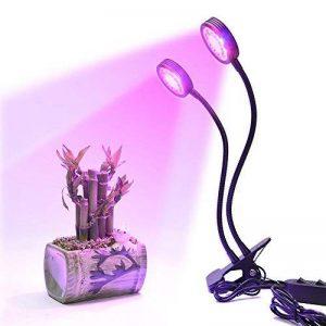 LONGKO 32LED 16W Lampe de Croissance/Lampe Horticole à Double Tête avec Cou de Cygne Flexible 360 °- 2 Niveaux Dimmable Cou Réglable pour des Plantes,des Fleurs et des Légumes Intérieur/de Serre de la marque LONGKO image 0 produit