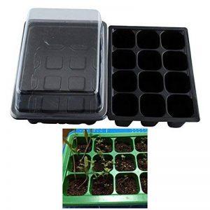 Lot de 5plateaux 12cellules pour semis pour graines de germination + étiquettes 5plantes de la marque MOEBEAUTY image 0 produit