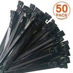 [Lot de 50] Attaches de Câble Réutilisables, Canwn Nylon Ultra Résistant Serre Câble Flexible Zip Cable Ties avec Slipknot(Noir) de la marque Canwn image 1 produit
