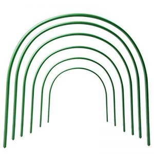 Lot de 6Jardin Tunnel cloche, PE, tunnel Tunnel cloche Créoles, Mini serre, serre à légumes/fruits, longueur réglable Serre tunnel cloche pour accessoires de la marque Firlar image 0 produit