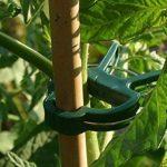 Lot de 60clips de jardin (2tailles en lots de 3) Attache-plante réglable pour jardin, vigne, légumes, tomates de la marque G2PLUS image 2 produit