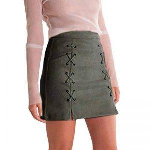 LuckyGirls Femmes Bandage Tissu Suède Mini Jupe Mince Taille élevée Stretch Serré Courte Jupe de la marque LuckyGirls image 0 produit