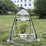 lulalula Mini serre Pop Up Serre, PVC intérieur ou extérieur Backyard Serre Coque, petite Portable de protection de jardinage Jardin Fleur Shelter–69,8x 69,8x 80cm de la marque lulalula image 1 produit