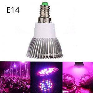Luniquz 18LEDs Lampe de Plante Intérieur 8W E14 Ampoule de Croissance pour Végétation Hydroponique ou en Serre(12 Rouges et 6 Bleux) de la marque Luniquz image 0 produit