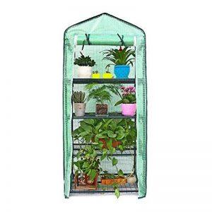 Mini serre, petite Plante les serres, pieds de rack à 4étages Portable Garden Green House pour usage intérieur et extérieur, 68,6cm de long x 48,3cm de large x 154,9cm haute de la marque Sue Supply image 0 produit