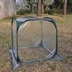 Mitefu plié Jardin Coque Mini serre Bird empêcher Coque Plante Serre isolante pour plante Protector, 1.6'' X1,6X1,6' de la marque Mitefu image 2 produit