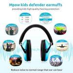 Mpow enfants casque anti-bruit, NRR 25DB/SNR 29dB bébé casque antibruit Cache-oreilles, protections auditives pour concert ou Fireworks, bandeau réglable casque anti-bruit pour enfant (Bleu, Sac de transport inclus) de la marque Mpow image 4 produit