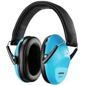 Mpow enfants casque anti-bruit, NRR 25DB/SNR 29dB bébé casque antibruit Cache-oreilles, protections auditives pour concert ou Fireworks, bandeau réglable casque anti-bruit pour enfant (Bleu, Sac de transport inclus) de la marque Mpow image 0 produit
