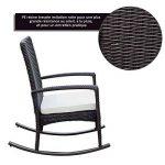 Outsunny Fauteuil à Bascule Rocking Chair avec Coussin d'assise Déhoussable 66L x 88l x 98H cm Résine Tressée Imitation rotin Chocolat 20 de la marque Outsunny image 4 produit
