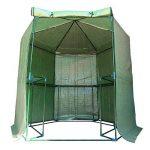 Outsunny Serre de jardin hexagonale 1,94(diam.) x 2.2H m 5 tablettes acier PE haute densité 140 g/m² anti-UV avec porte déroulante vert 34 de la marque Outsunny image 2 produit