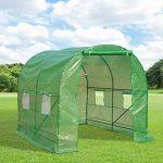 Outsunny Serre de jardin tunnel 5 m² 2,5L x 2l x 2H m acier renforcé dia. 1,8 cm + PE haute densité 140g/m² fenêtres porte déroulante vert neuf 56 de la marque Outsunny image 1 produit