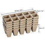 Petit carré biodégradable Fibre plateaux à semis Pots pour semis, Lot de 5-50 cellules de la marque KINGLAKE image 1 produit
