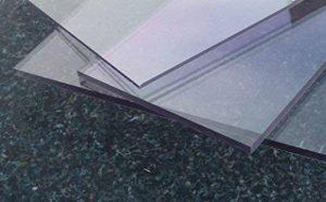 Plaque Polycarbonate UV différentes Tailles, épaisseurs, transparente (2-20 mm) PC incolore large sélection alt-intech® (400 x 400 mm, 4 mm) de la marque alt-intech® image 0 produit