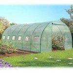 Probache - Grande serre de jardin tunnel 7 arceaux Pro galvanise 18m² 6x3x2m de la marque Probache image 1 produit