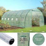 Probache - Grande serre de jardin tunnel 7 arceaux Pro galvanise 18m² 6x3x2m de la marque Probache image 3 produit