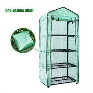 Prokth Mini serre Housse de remplacement de 4étages, PE Tier Home Plante Serre Tente d'extérieur en plastique (sans support pour fer à) de la marque PROKTH image 0 produit