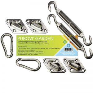 Purovi® Kit de fixation pour voile d'ombrage de la marque Purovi image 0 produit