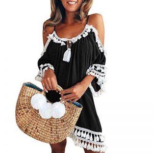 Robe de Gland, GreatestPAK Femme Off épaule Court Cocktail Robes de Plage Bohème Sundress de la marque GreatestPAK_Robes image 0 produit