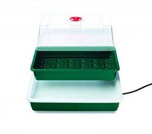Seedeo Serre intérieure compacte et chauffée avec base de 10 watts + 3 litres de terreau + 15 pots en plastique + 2 échantillons de graines de la marque Seedeo image 0 produit