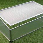 Semis 100x 60x 30/40cm avec cadre en aluminium et polycarbonate Disques de la marque Spetebo image 1 produit