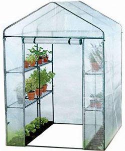 Serre à 8 étagères - pour fruits/légumes - bâche renforcée/double profondeur - grande taille de la marque Harbour Housewares image 0 produit