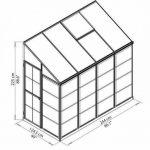 Serre adossée LEAN Hybrid Grow 3,05 m² de la marque Palram image 3 produit