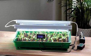 Serre d'intérieur avec deux lampes horticoles, matelas chauffant et thermostat – Mini serre chauffante pour la germination - Jardin d'intérieur - ROMBERG Maximus Complete - 57 x 38 x 18 cm de la marque image 0 produit