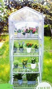 Serre de Jardin 4 Etages 130x50x45cm - Jardinage Cultiver Plante Fleur 406 de la marque les colis noirs lcn image 0 produit