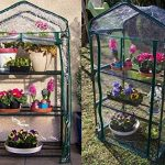 Serre de jardin, balcon, terrasse – Structure acier vert housse PVC transparente imperméable – Mini serre transportable 3 étagères L69*P49*H125 cm – Interouge de la marque INTEROUGE image 2 produit