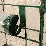 Serre de jardin, balcon, terrasse – Structure acier vert housse PVC transparente imperméable – Mini serre transportable 4 étagères L69*P49*H158 cm – Interouge de la marque INTEROUGE image 4 produit