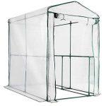 Serre de jardin casa pura Thalia transparente | avec 2 tablettes + piquets et corde inclus | pour tomates et autres plantes | résistant aux intempéries, stabilisé UV de la marque casa pura image 2 produit