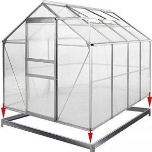 Serre de jardin en alu 7,6m³ avec 2 Fenêtres et une Gouttière + Fondation/Base de la marque Deuba image 0 produit