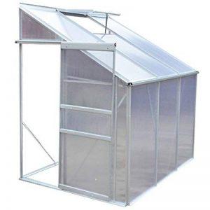 Serre de jardin en profilé d'aluminium anodisé 185 × 140 × 195 cm de la marque vidaXL image 0 produit