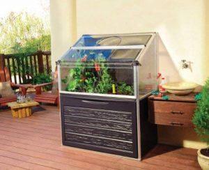 Serre de jardin potager adossable GAYA 0,74 m² de la marque Chalet et jardin image 0 produit